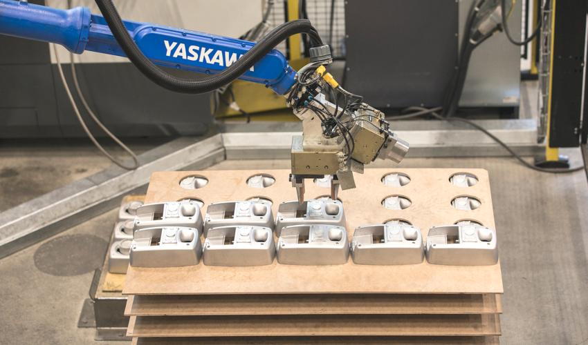 Automated machining production unit