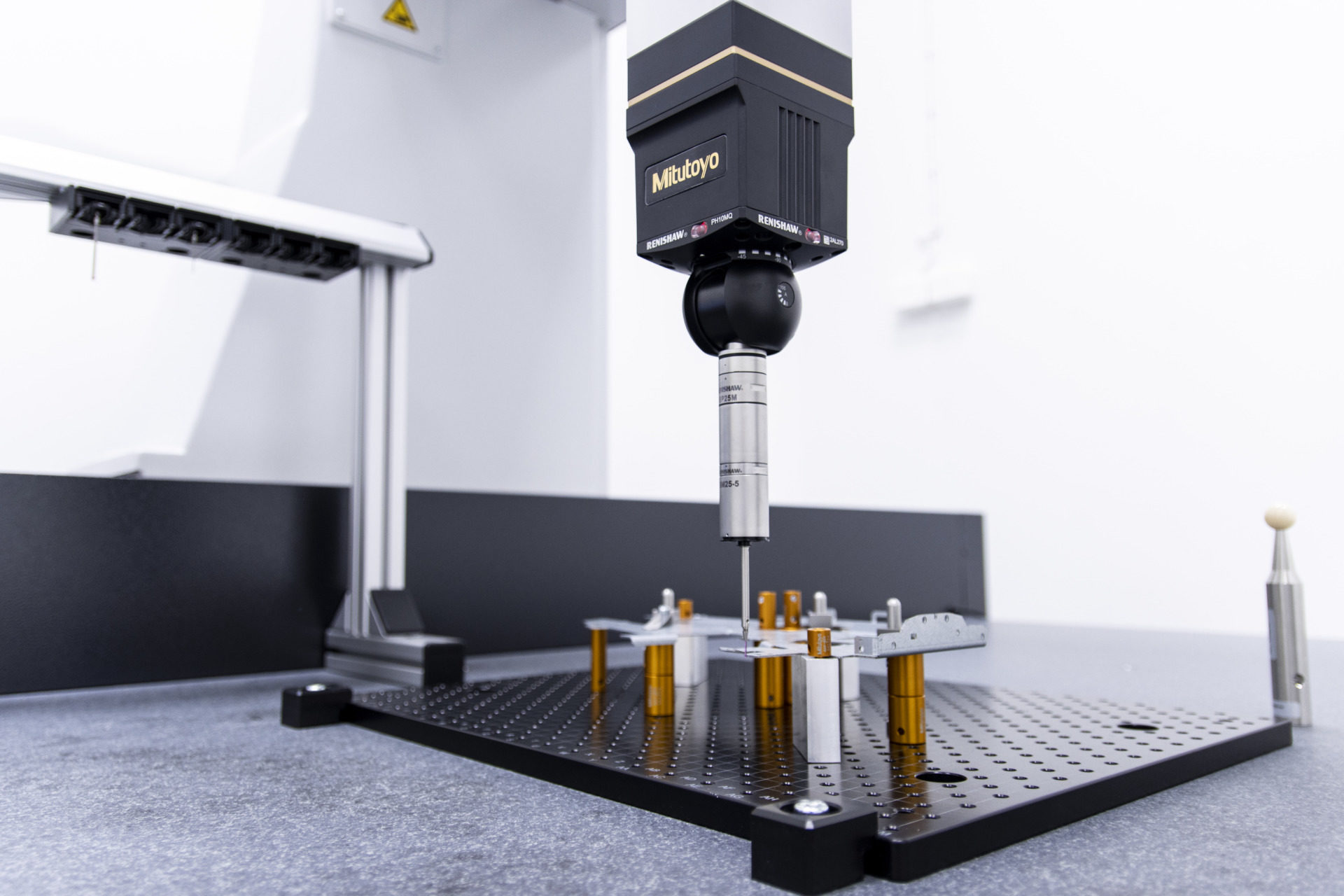 Coordinate measuring machine with product