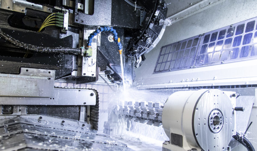 Machining centre from the inside