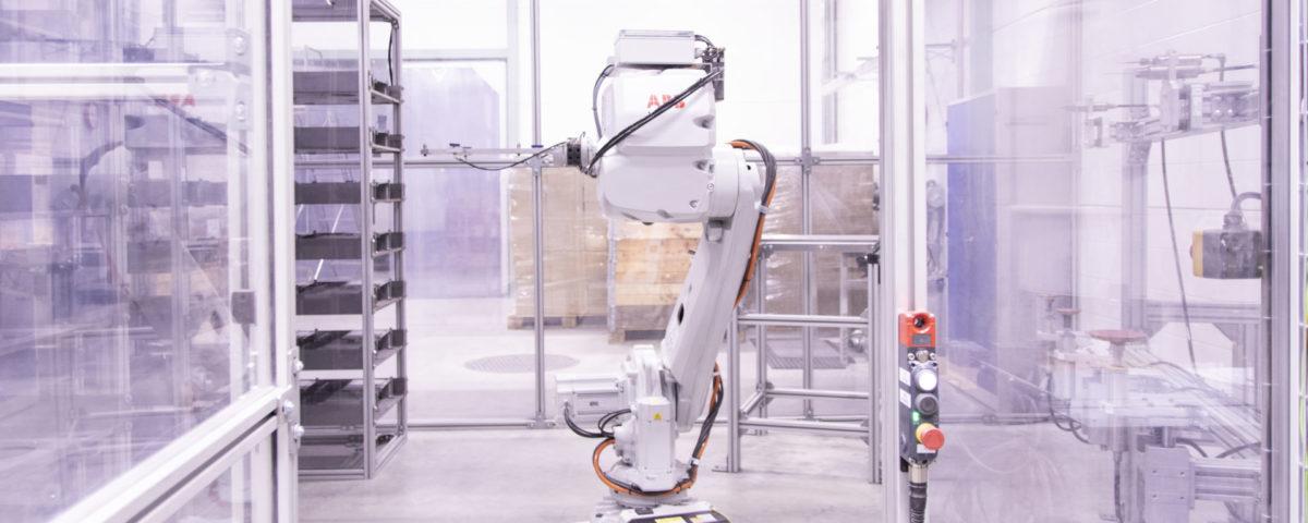 A robotic finishing unit